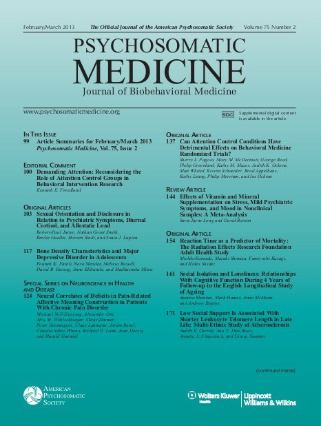 Effects of Vitamin and Mineral Supplementation on Stress Mild Psychiatric Symptoms, and Mood in Nonclinical Samples A Meta Analysis